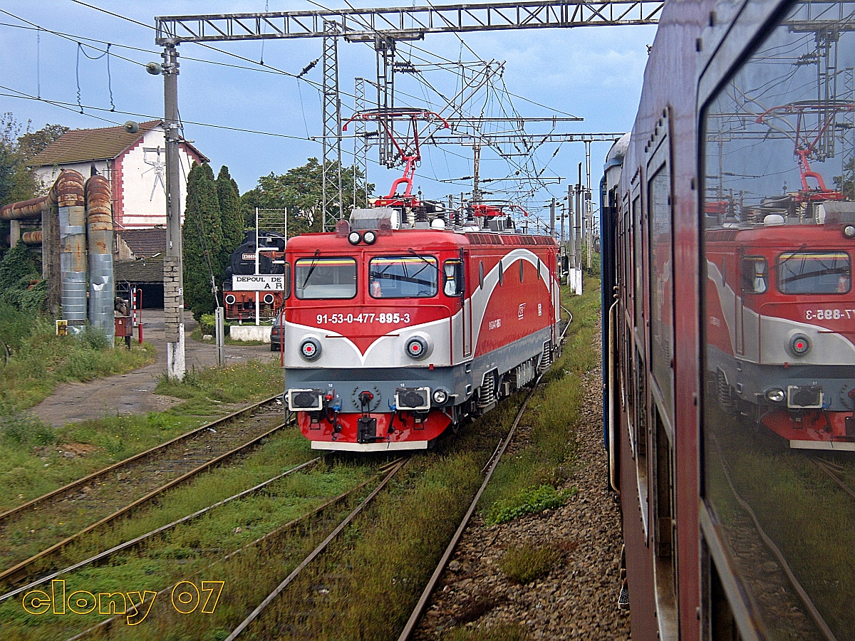 Manevra la intrare in Dep Arad a locomotivei 895.JPG